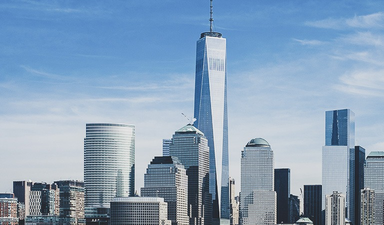 Financial District & World Trade Center at New York
