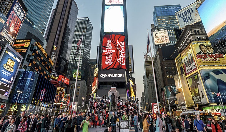 Times Square & Rockefeller Center at New York